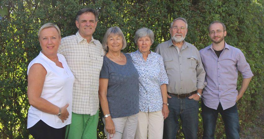 v.l.n.r. Ursula Kaltner-Bayer, Andreas Reimann, Marlene Schmid-Krammer, Elisabeth Diefenthaler, Wolfgang Weiss, Joachim Linse