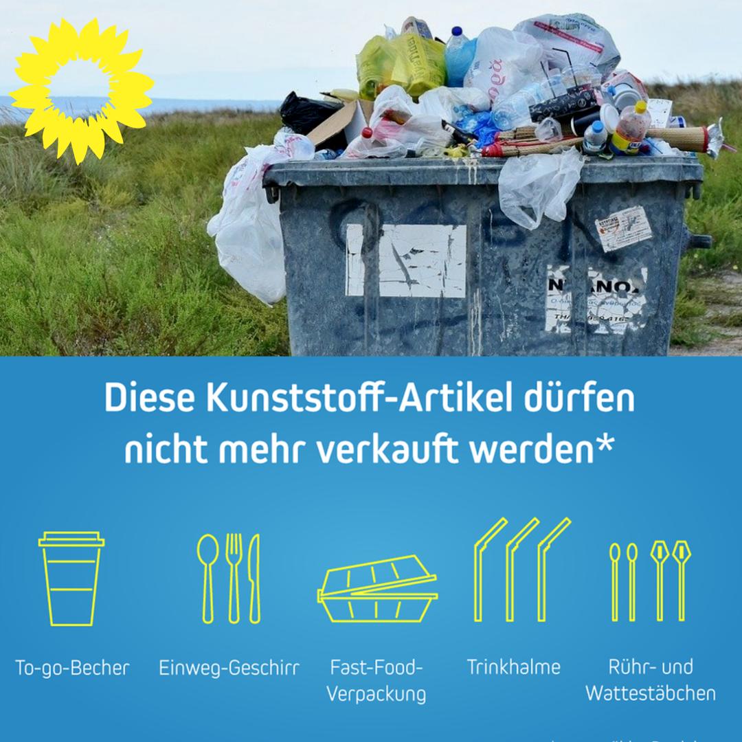 EU-weites Verbot von Einweg-Plastik!
