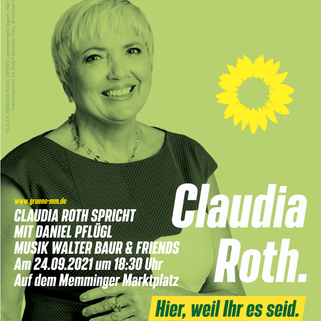 Claudia Roth kommt nach Memmingen!