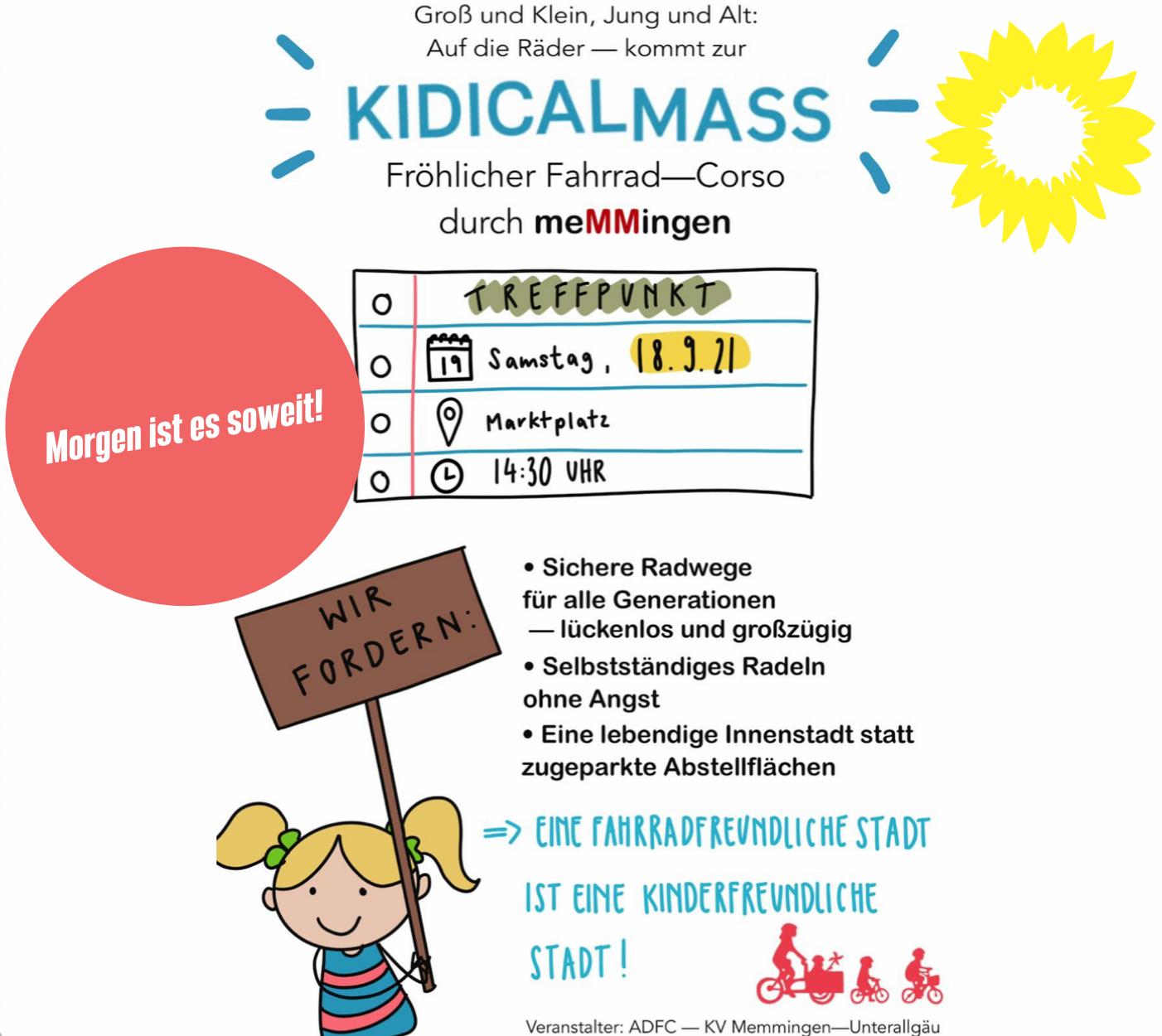 Kidical Mass 2021 – für Kinder- und fahrradfreundliche Orte! MORGEN IST ES SOWEIT!!!