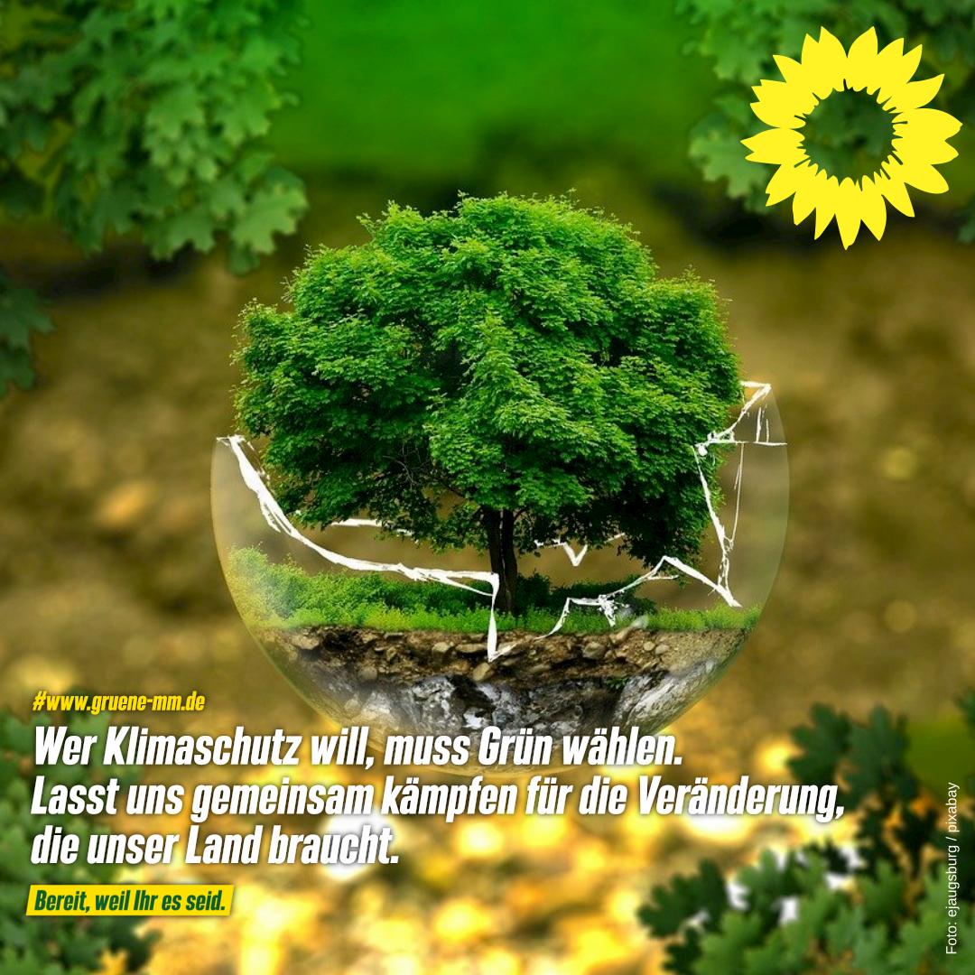 Wer Klimaschutz will, muss Grün wählen.