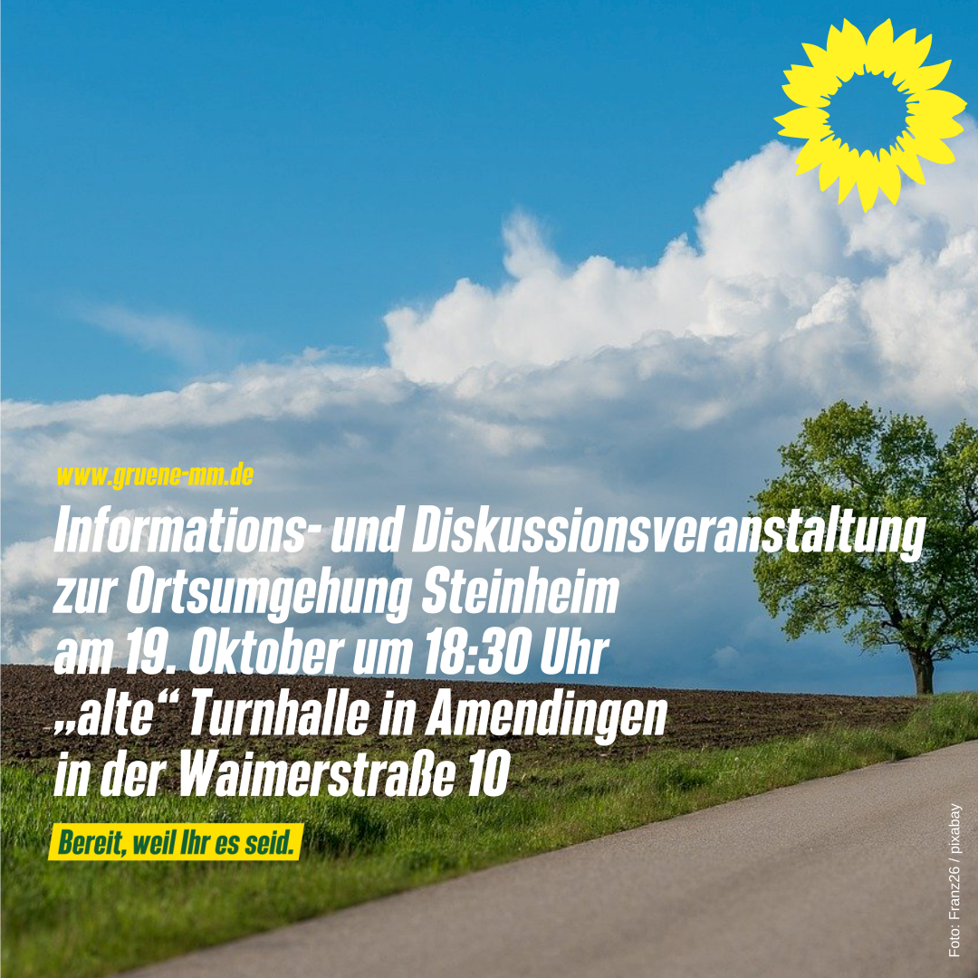 #Bürgerinformation Ortsumgehung Steinheim am 19. Oktober